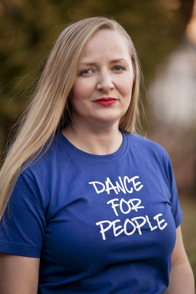 Tričko Dance For People - Modré