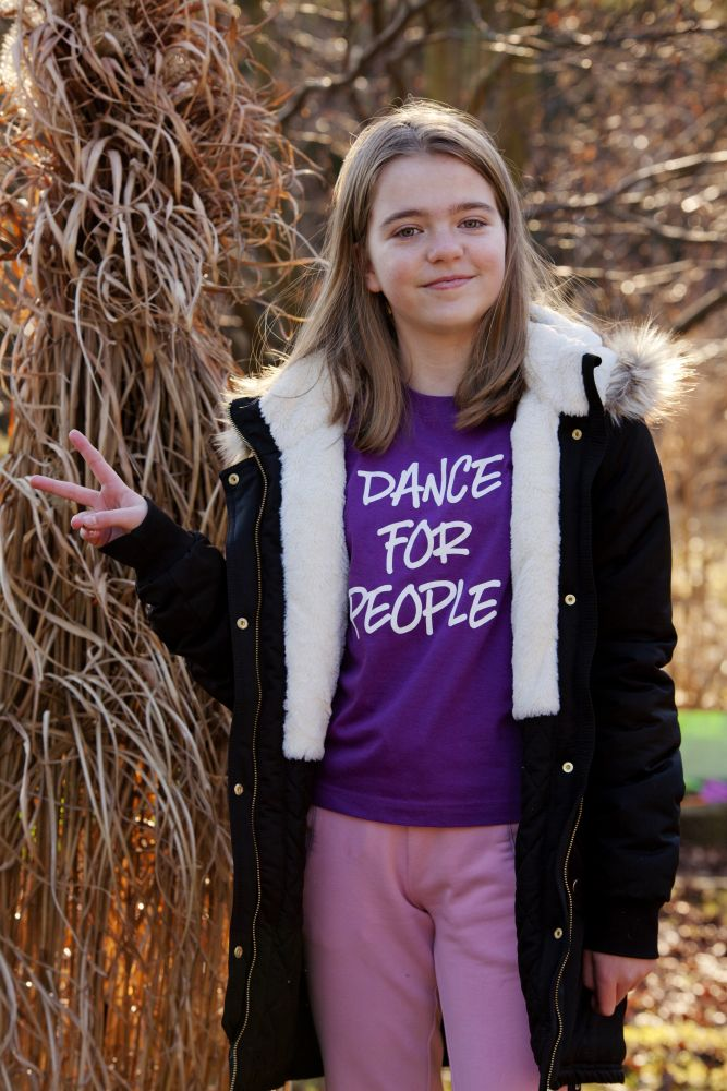 Tričko Dance For People - Fialové