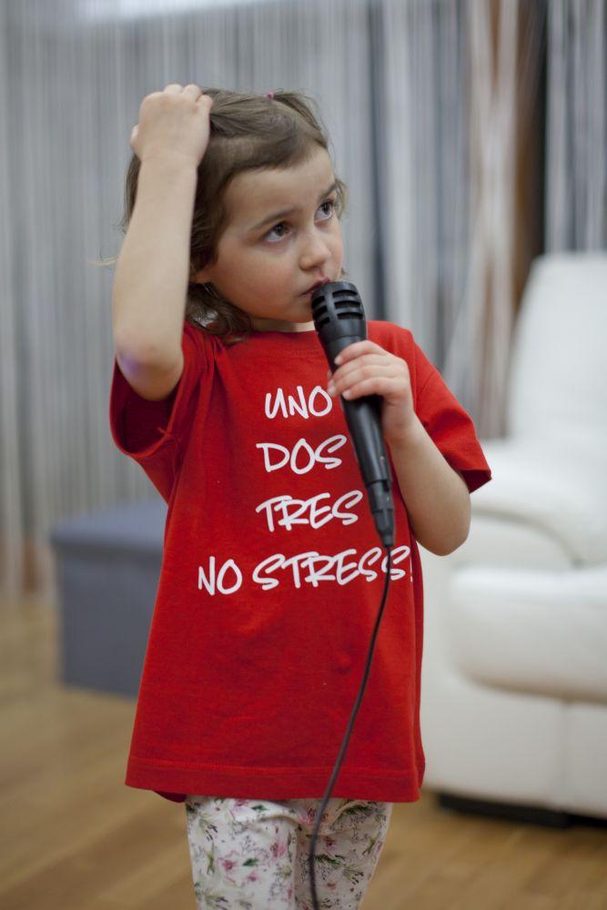 Tričko Uno, dos, tres - Červené